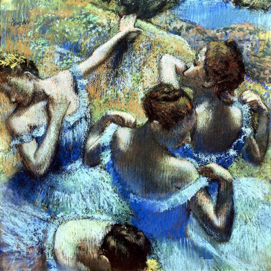 Dancers in blue - Edgar Degas