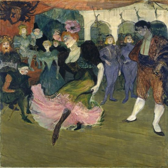 Marcelle Lender doing the Bolero in Chilperic - Henri de Toulouse Lautrec