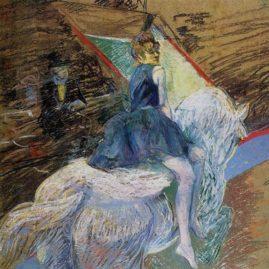 Rider on a White Horse - Henri de Toulouse Lautrec